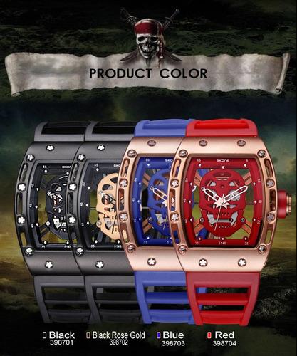 combo 2 relojes skone hombre moda militar skeleton moda 2018