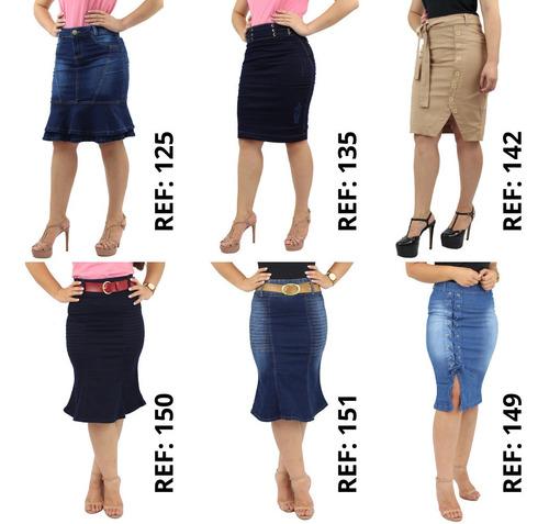 combo 2 saias secretária jeans