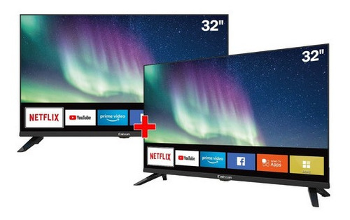 combo 2 televisores caixun 32  cs32s1 smart tv hd