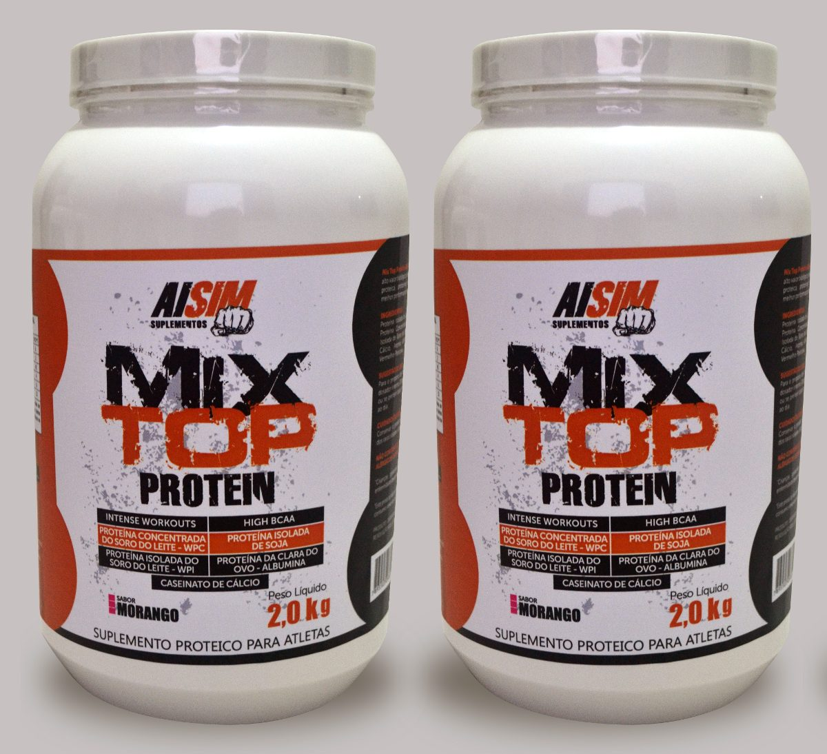 cc27e13a2 Combo 2 Whey Protein 2kg Total 4kg Mix Protein Top Aisim - R  90