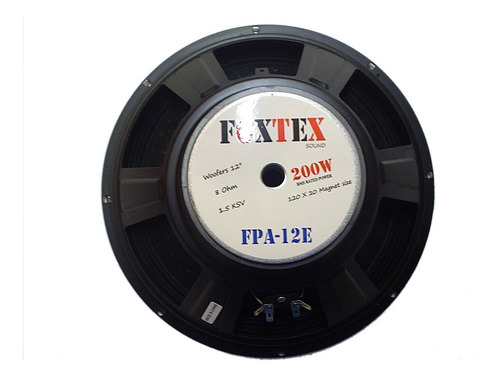 combo 2 woofers 12 pulgadas - marca foxtex