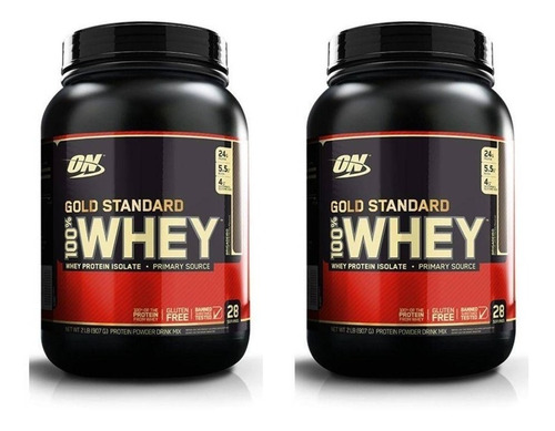 combo 2 x gold standard 100% whey 907g on