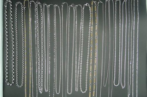 combo 20 cadenas de acero quirurgico para reveendedores