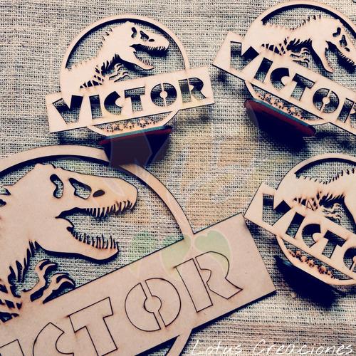 combo 25 souvenirs dinosaurios + central -corte láser-