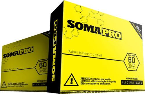combo 2x somapro 60 cáps - iridium labs - antigo somatodrol