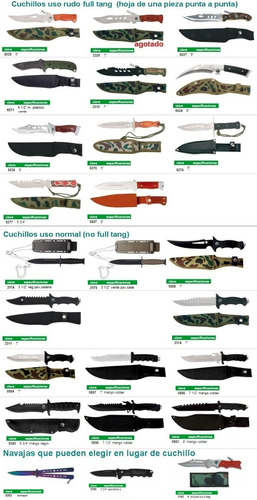 combo 3 cuchillos acero c funda varios modelos