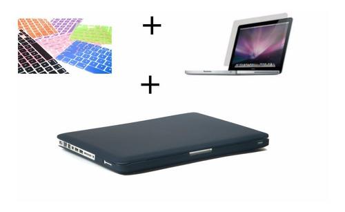 combo 3 en 1 funda case teclado mica macbook pro air 13 mate