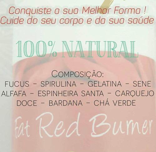 combo 3 fat red burner 30 cápsulas+frete grátis