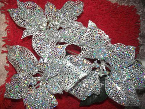 combo 3 flor grande navidad para decorar #6 loligo