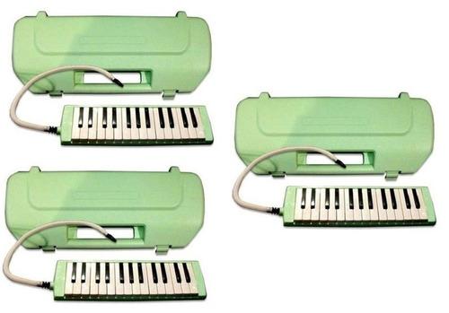 combo 3 melodicas lazer 27 estuche rigido manguera cuotas
