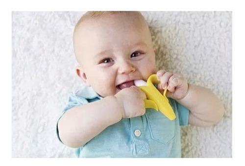 combo 3 mordederas banana bebe dental silicón comezón diente