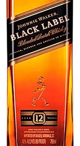 combo 3 pack whisky etiqueta negra black label 12 años 0,75l