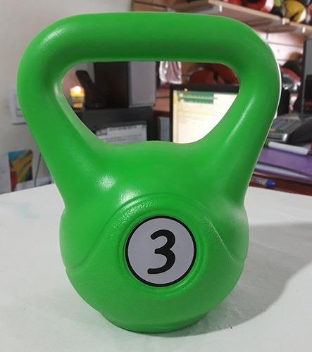 combo 3 pesas rusas ketbells 3 - 4 - 5 kg gimnasia pesas
