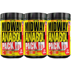 Combo 3 Potes Midway Anabol Pack Usa - 90 Packs
