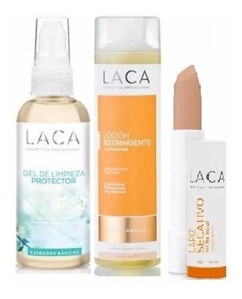 combo 3 productos pieles grasas laca