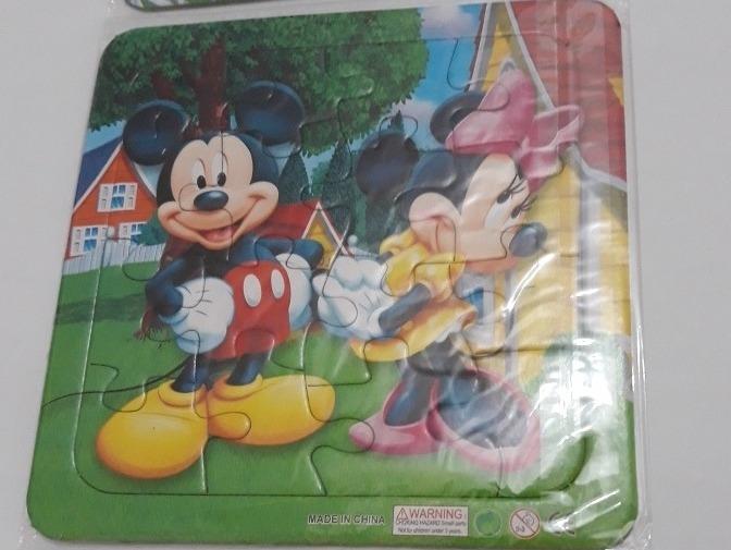 combo 3 rompecabezas disney coloridos calidad superior niños bs