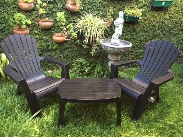 Sillones para el jardin juego living jardin sillones de for Mesa plastico jardin