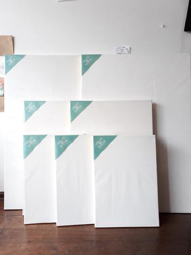 combo 3 unidades - bastidor - lienzo para pintar 35 x 50