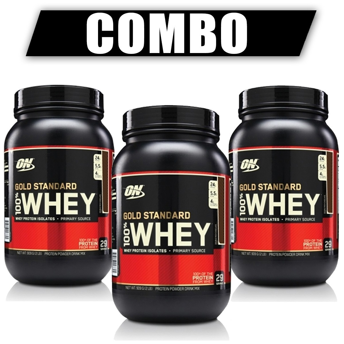 734a1843b combo 3x whey protein gold standard 900g - on optimum. Carregando zoom.