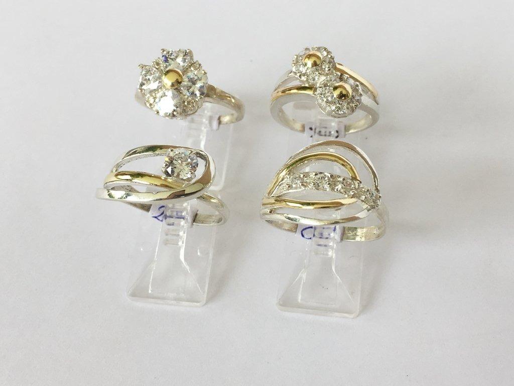 0c2a7a2c2953 combo 4 anillos plata y oro con strass precio mayorista. Cargando zoom.