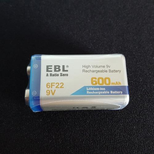 combo | 4 baterias recargables 9v 600mah + cargador | li-ion