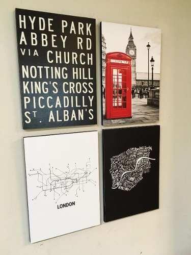 Combo 4 Cuadros Decorativos Londres Vintage (c/u 26,7x40 Cm ...