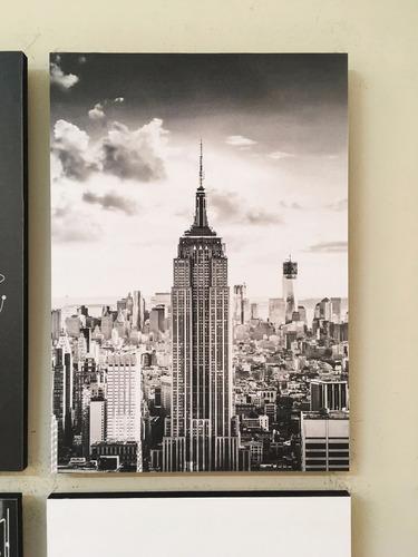 combo 4 cuadros decorativos new york (20x28 cm cada uno)