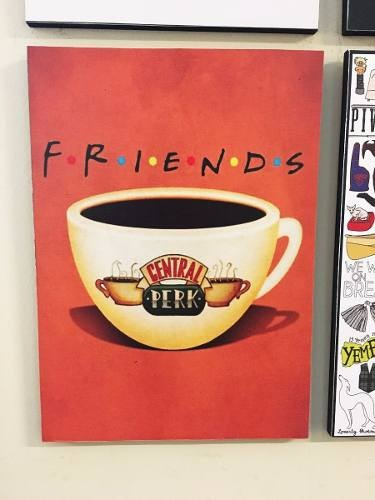 combo 4 cuadros friends (cada uno 20x28 cm)