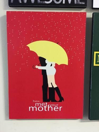 combo 4 cuadros how i met your mother (c/u 20x28 cm)