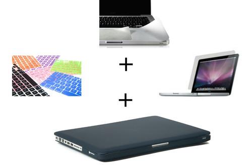 combo 4 en 1 macbook funda teclado mica pantalla palmguard