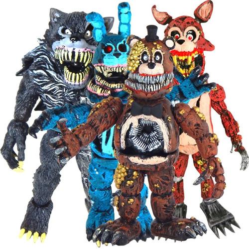 combo 4 figuras five nights freddys twisted fnaf nightmare