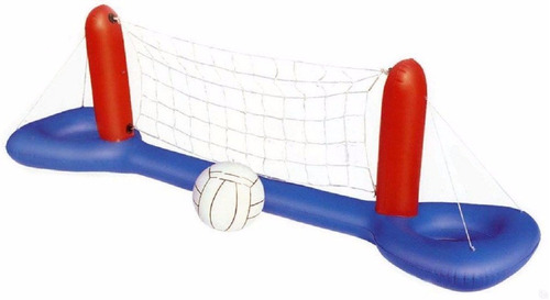 combo 4 inflables hielera red voley arco y basket pileta