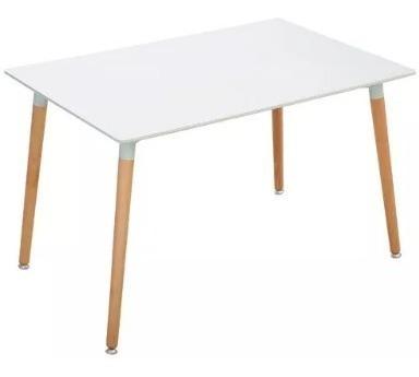 combo 4 sillas y mesa eames rectangular set comedor cocina