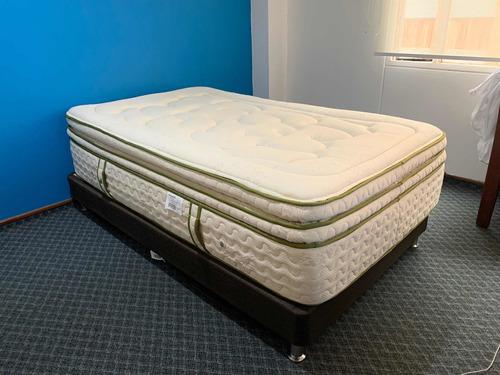 combo 4en1 con envío: base cama+colchón+sábanas+protector