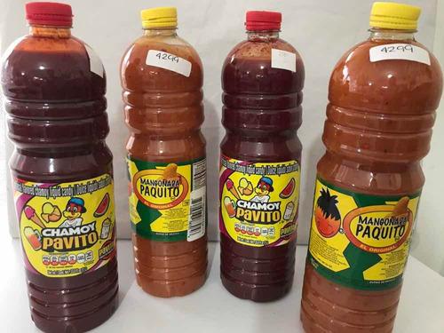 combo 4lts salsas chamoy y mangonada surte tu snack botanas