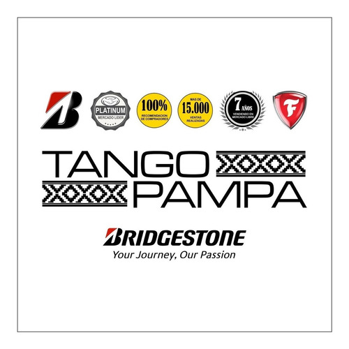 combo 4u 185/65 r 15 h bridgestone b 250 tango envío gratis