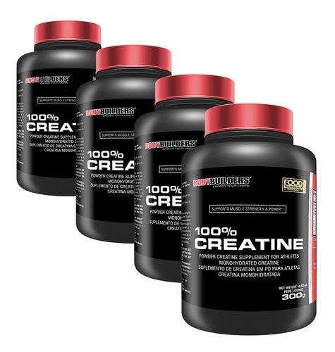 combo 4x 100% creatina 300g - bodybuilders