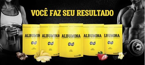 combo 5 albumina naturovos 500g - sabores - frete grátis -