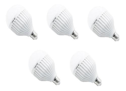 combo 5 bulbo led 15w 2 funciones lampara y luz emergencia