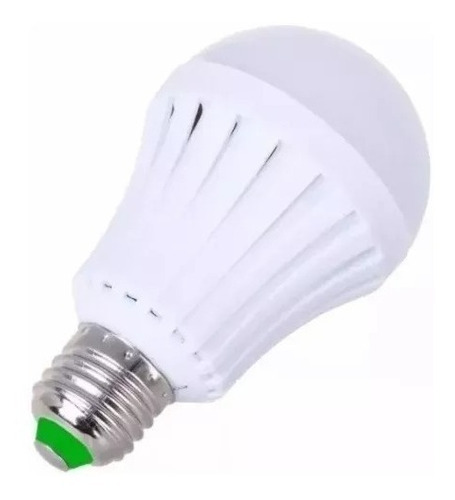 combo 5 bulbo led 9w doble funcion: lampara emergencia 4 hs
