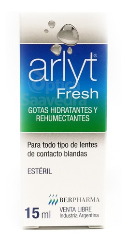 combo 5 lagrimas arlyt fresh gota hidratante rehumectante