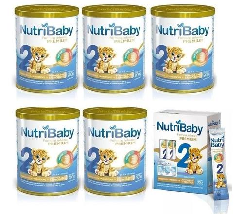 combo 5 nutribaby 2 x 900g + 1 caja nutribaby 2 sticks