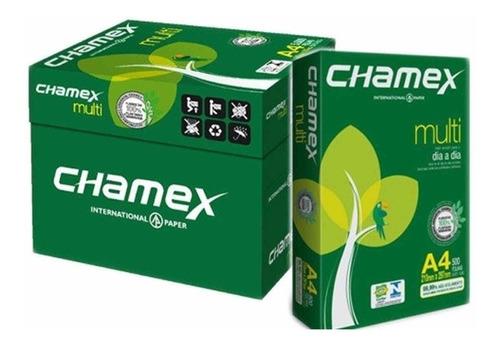 combo 5 resmas papel a4 75g chamex premium  x 500 hojas