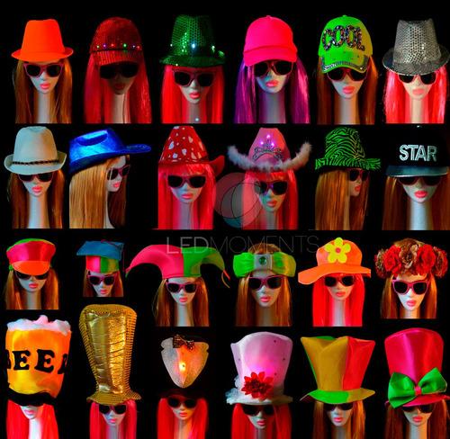 combo 50 sombreros gorros carioca cotillón luminoso