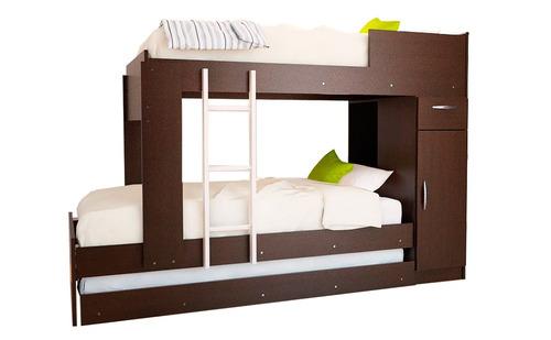 combo 53 cama cucheta triliche + chifonier 5 cajones