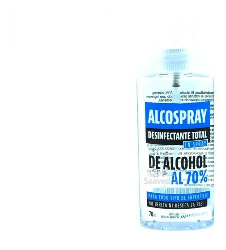 combo 6 alcospray 70ml desinfectante en spray de alcohol 70%