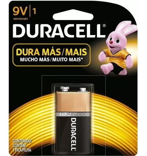 combo 6 baterias 9v duracell alcalina ideal p/ eletrônicos