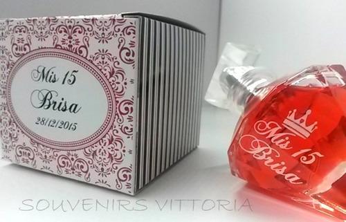 combo 65 souvenirs perfumes !!! con caja personalizada!!!