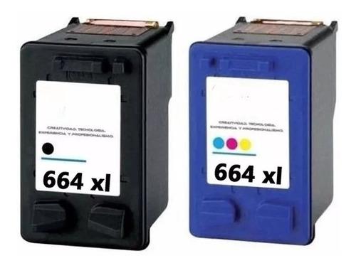 combo 664xl alternativo hp negro + color 2135 3635 4535 4675