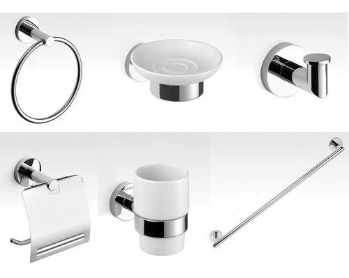 combo accesorios baño completo piazza guilty 6 piezas metal